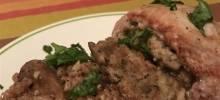 mushroom-farro 'risotto'