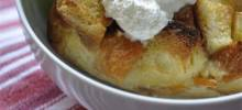 My Peach Bread Pudding