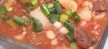 Navy Bean Soup With Sirloin Tips