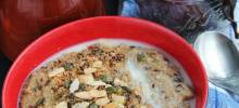 nut and date millet porridge