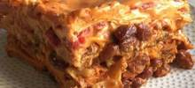 Ooey Gooey Chili Mac Lasagna