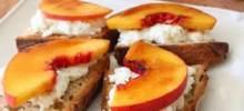 peach brulee burrata bruschetta