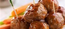 Peachy BBQ Meatballs
