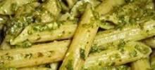 penne with garlic pesto