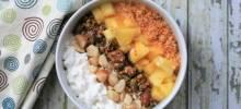 pina colada cottage cheese bowl