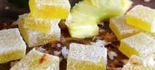 pina colada fruit jellies