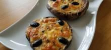 pizza-style portabello mushrooms