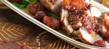 Pork Tenderloin with a Honey Grape Sauce