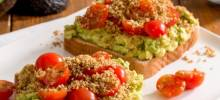 quaker® avocado toast with savoury oat crumble