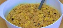 Quick Coconut Curry with Rice, Corn, and Beans