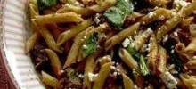Quick Greek Pasta Salad with Steak