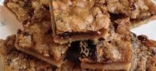 raisin butter tart squares