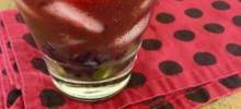 Red Grape and Acai Caipirinha