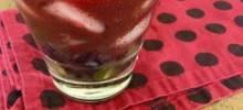 Red Grape and Acai Caipirinha
