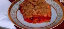 rhubarb cherry crisp