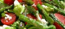 Roasted Asparagus Salad with Feta Cheese
