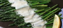 roasted asparagus with parmesan cream sauce