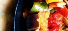 Roasted Baby Eggplant, Tomato, and Zucchini