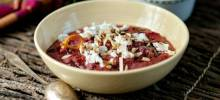 roasted beet and goat cheese dip