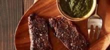 Roasted New York Strip Steak with Chimichurri Sauce