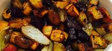 Roasted Pumpkin with Root Vegetables and Broccoli