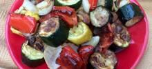 roasted rainbow vegetables in the air fryer