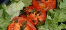 Roasted Roma Tomatoes and Garlic