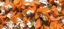roasted squash and sweet potatoes with goat cheese