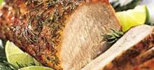 Rosemary and Garlic Smoked Pork Roast