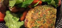 Rosemary Pesto-Crusted Lamb Steaks