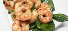 sauteed shrimp with spinach