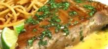 Seared Tuna with Wasabi-Butter Sauce