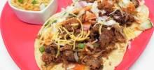 shredded pork fajita tacos