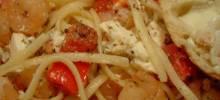 Shrimp and Feta Cheese Pasta
