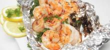 shrimp in foil