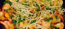 Singapore Noodle Curry Shrimp