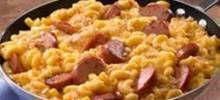 skillet mac and cheese & kielbasa