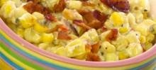 Slow Cooker Creamed Corn with Onion and Chives