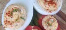 Smoked Salmon Deviled Eggs and Tomatoes