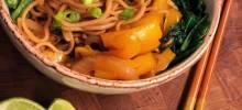 soba noodle veggie bowl