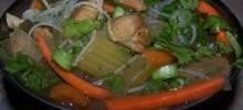 Spicy Chicken Thai Noodle Soup