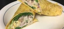 spicy turkey salad wraps