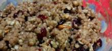 sraeli couscous with cranberries, walnuts, and sunflower seeds