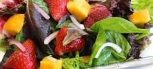 Strawberry-Mango Mesclun Salad