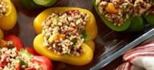 Stuffed Peppers with Ancient Grains and Roasted Peppers