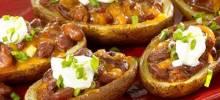 Super Loaded Chili Potato Skins