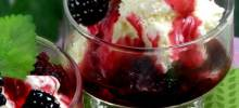 sweet blackberry and brandy sauce