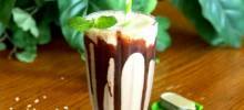 tahini mint chocolate shake