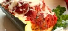 talian Meatloaf in Zucchini Boats