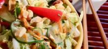tangy thai cabbage salad